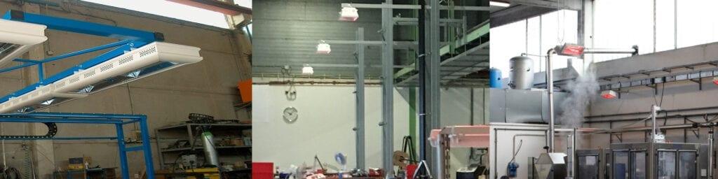 Infrarood verwarming bedrijfshal werking