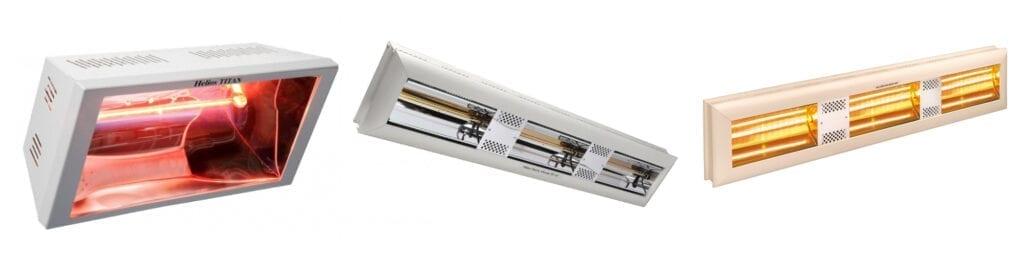 Positie elektrische heaters bedrijfshal