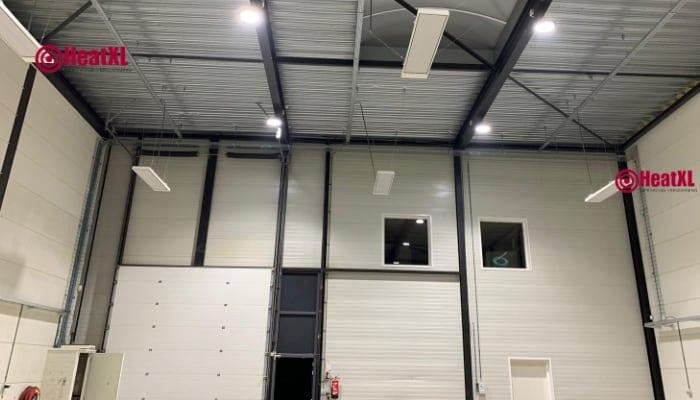 industriele verwarming infrarood panelen loods hal bedrijfshal industrie 4