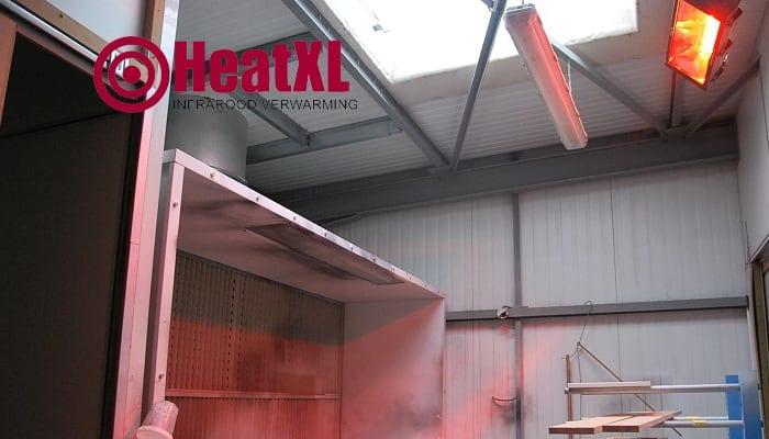 industriele verwarming infrarood panelen loods hal bedrijfshal industrie
